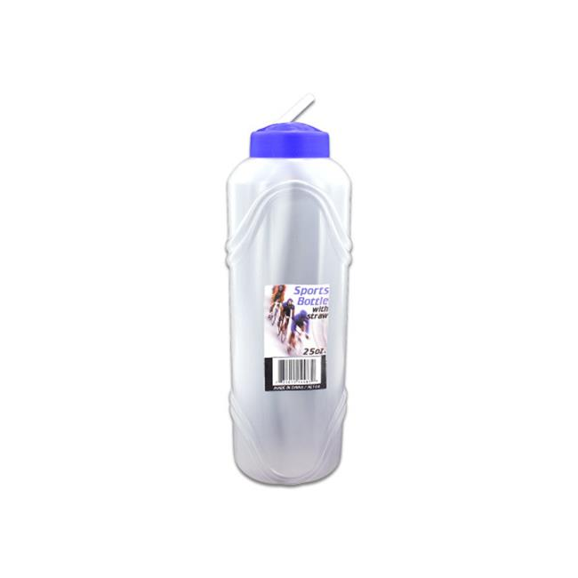 Bulk Buys HL166-72 Water Bottle With Straw, 25 oz. - image 1 of 1