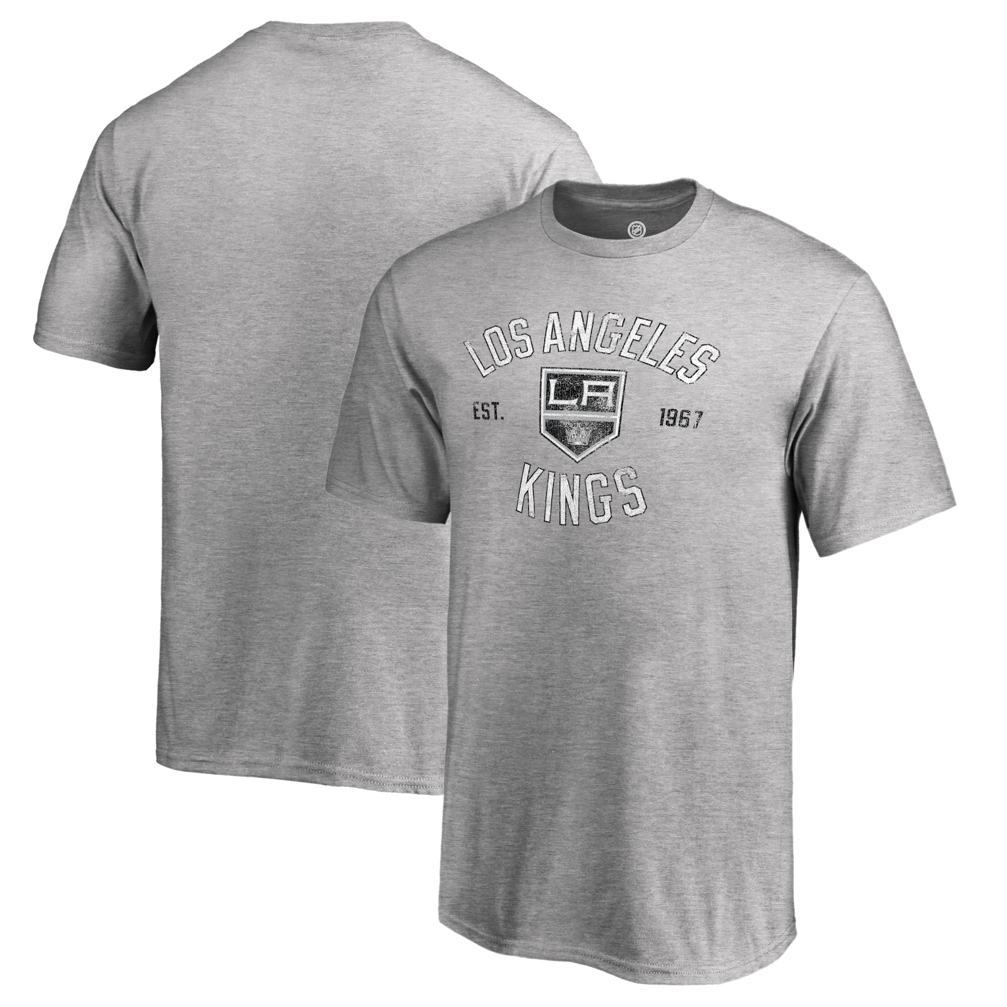Los Angeles Kings Fanatics Branded Youth Heritage T-Shirt - Ash