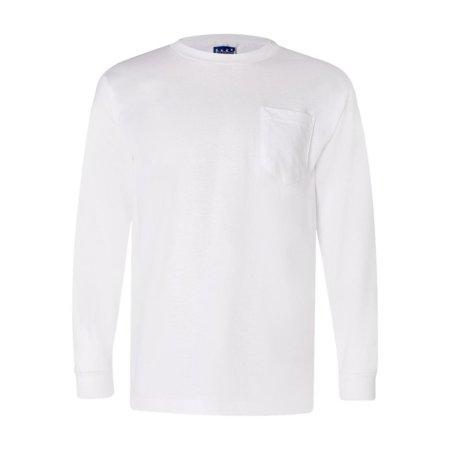 9134fdd502e Bayside - 3055 Bayside T-Shirts - Long Sleeve Union-Made Long Sleeve T-Shirt  with a Pocket - Walmart.com
