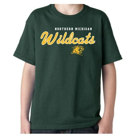 J2 Sport Northern Michigan Wildcats NCAA Machine Script Youth T-shirt