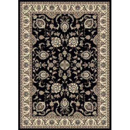 1426-0012-BLACK Alba Rectangular Black Traditional Italy Area Rug, 7 ft. 9 in. W x 11 ft. H