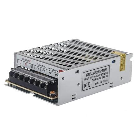 AC 100V~240V to DC 24V 5A 120W Voltage Transformer Switch Power Supply for Led Strip - image 1 de 1
