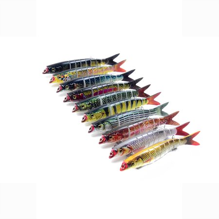 5.5in / 0.76oz Bionic Multi Jointed Hard Bait S Swimming Action Fishing Lure 8 Segment Sinking Fishing Lure VIB Bait Crankbait 3D Eyes Lifelike Artificial Fishing Lures Hook with Treble Hooks Tackle - image 4 of 7