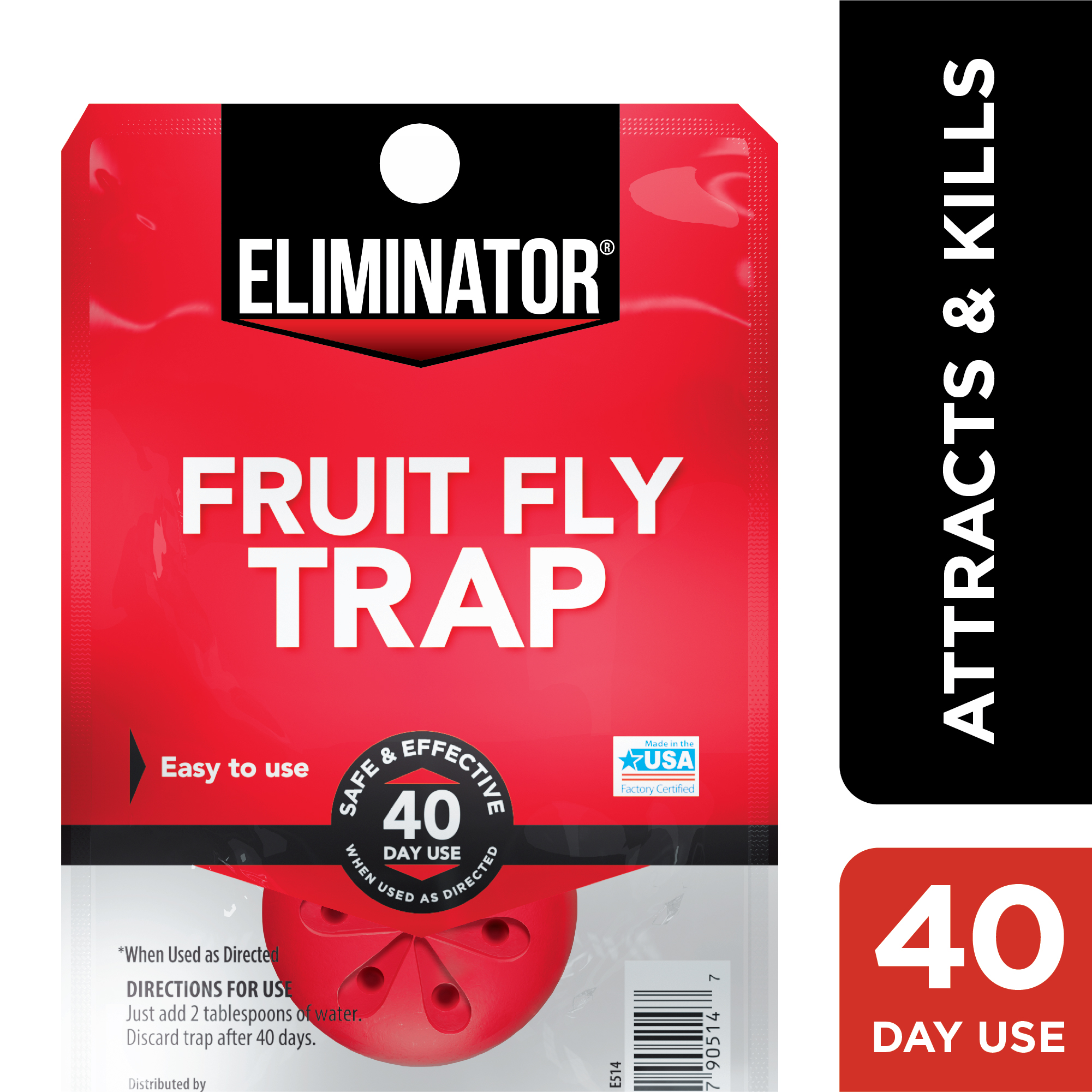 Eliminator Fruit Fly Trap, 40-Day Treatment Kitchen Fruit ...