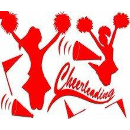 Custom Decals - Prices Reduced Cheerleading - Girls Bed Room - Home Decor Sticker Vinyl Wall