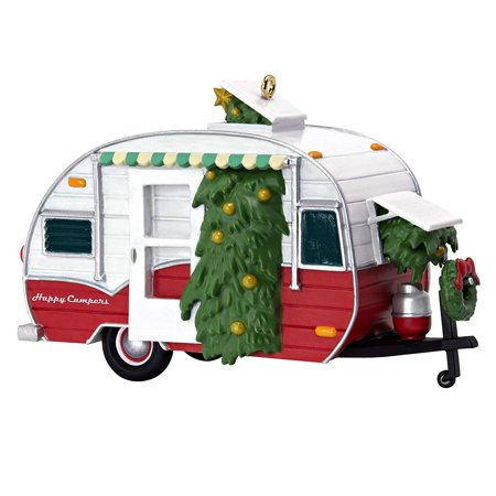 Hallmark Keepsake Christmas 2019 Year Dated Happy Campers Travel Trailer Ornament, Camping ()