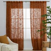 MoDRN Naturals Open Weave Curtain Panel Pair