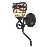 "Dale Tiffany Tw12424 Fall River 1 Light 16"" Tall Wallchiere Style Sconce Wi - Bronze"