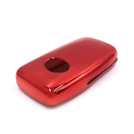 Red Plastic Remote Key Case Holder Shell Protect Cover Fit For - image 2 de 3