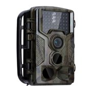 HC-800A Hunting Camera 42 IR LEDs Infrared Night Vision Hunting Scouting Camera IP56 Waterproof Outdoor Camcorder for Wildlife Hunting Monitoring and Farm Security Trigger Speed 0.5s Dark Green