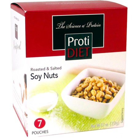 Sox Fiber - PROTIDIET - High Protein Diet Snack |Roasted & Salted Soy Nuts| Low Calorie, Low Sugar, High in Fiber (7/Box)