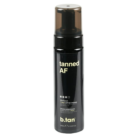 Instant Tan Mousse (b.tan tanned AF self tan mousse, 6.7 oz )