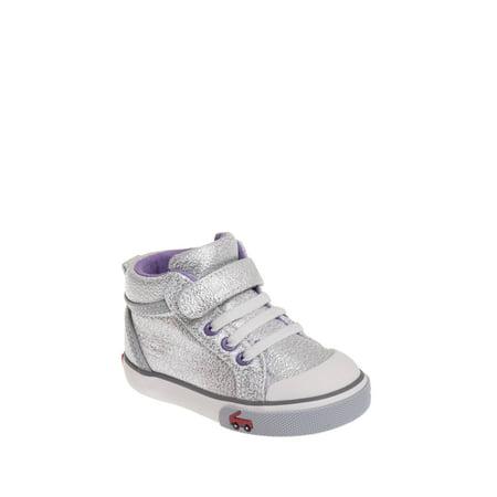 see kai run toddler's peyton hi-top sneaker - silver