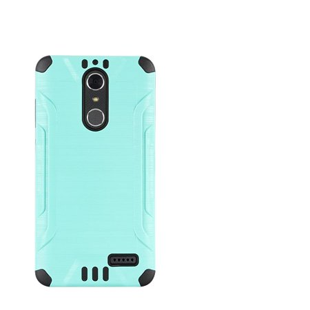 Phone Case For Zte Blade Spark 4G At Prepaid Smartphone  Zte Grand X4  Cricket Wireless  Case  Metallic Brush Cover Case   Screen Protector  Teal