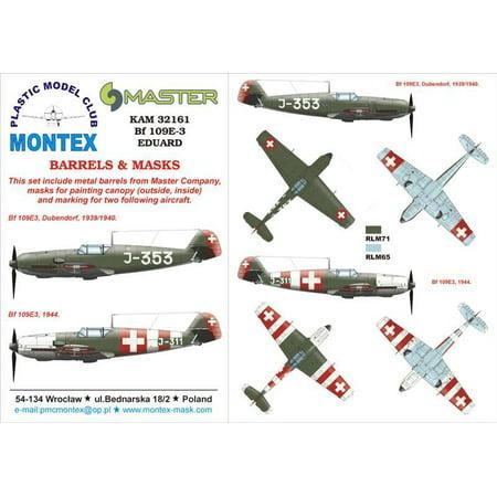 Montex KAM 1:32 Bf-109 E-3 #1 for Eduard Mask + Metal Part