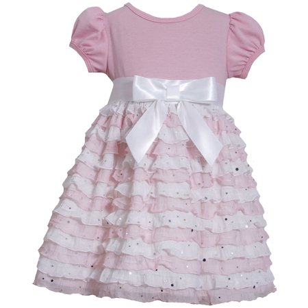 Bonnie Jean Toddler Girls Pink Ruffle Eyelash Dress 2T-4T 2T (Bonnie Jean Halloween Ghost Tutu Dress)
