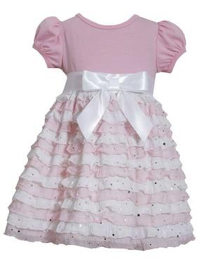 3e0345a035093 Product Image Bonnie Jean Toddler Girls Pink Ruffle Eyelash Dress 2T-4T 2T