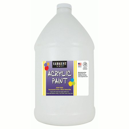 Sargent Art® Acrylic Paint, White, 64 oz. Bottle (Half Gallon) - White Acrylic Paint