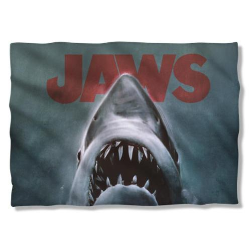 Jaws Shark Pillow Case White One Size