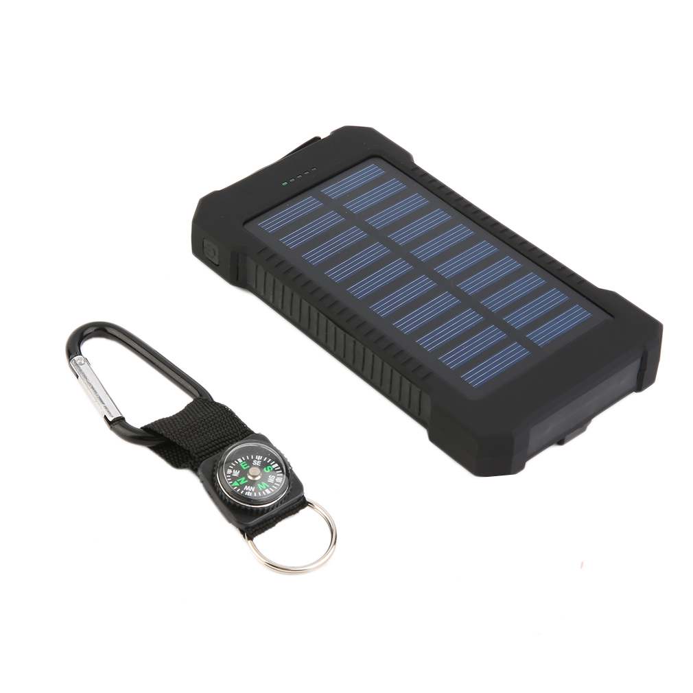 300000mAh Dual USB Portable Solar Battery Charger Solar Power Bank High Capacity Environmentally-friendly by
