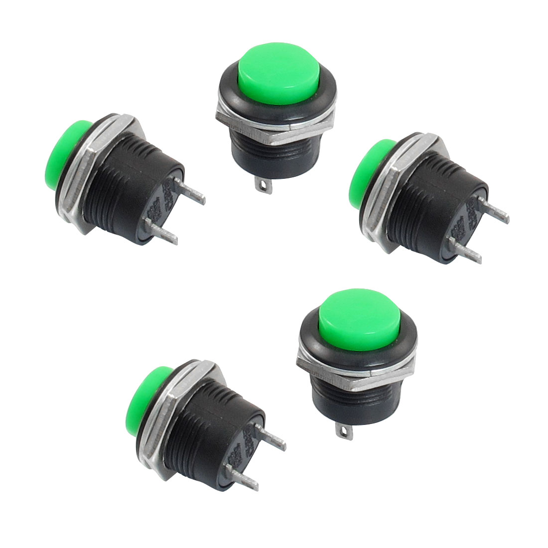 5 x Momentary SPST NO Red Round Cap Push Button Switch AC 6A//125V 3A//250V L5G4
