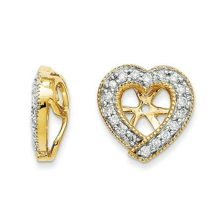 0.24 Ct Earring (14K 0.250 ct. Diamond Earring Jacket )