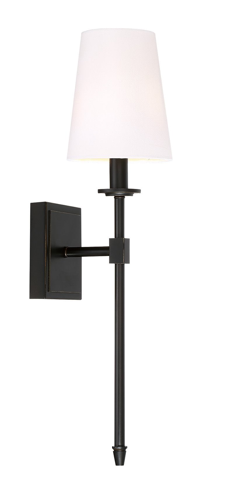 """Revel Torche 20"""" Wall Sconce Wall Light + Linen Shade, Oil-Rubbed Bronze Finish by"""