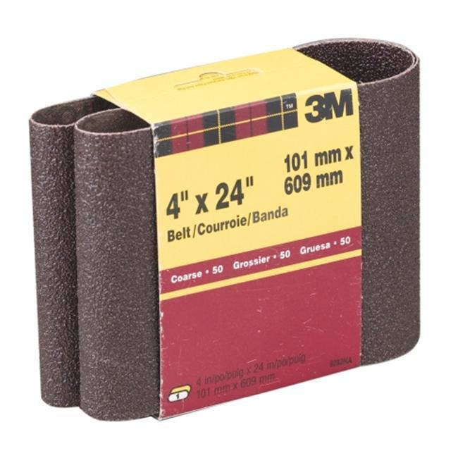 3m 4inch X 24inch Coarse Grit Power Sanding Belts  9282NA
