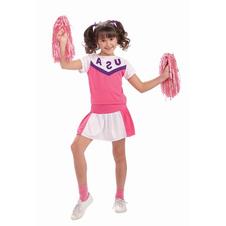 Cheerleader Uniform Costume Child - Cheerleader Kids Costume