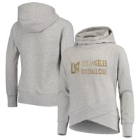 LAFC Girls Youth Tri-Blend Sparkle Pullover Hoodie - Heathered Gray