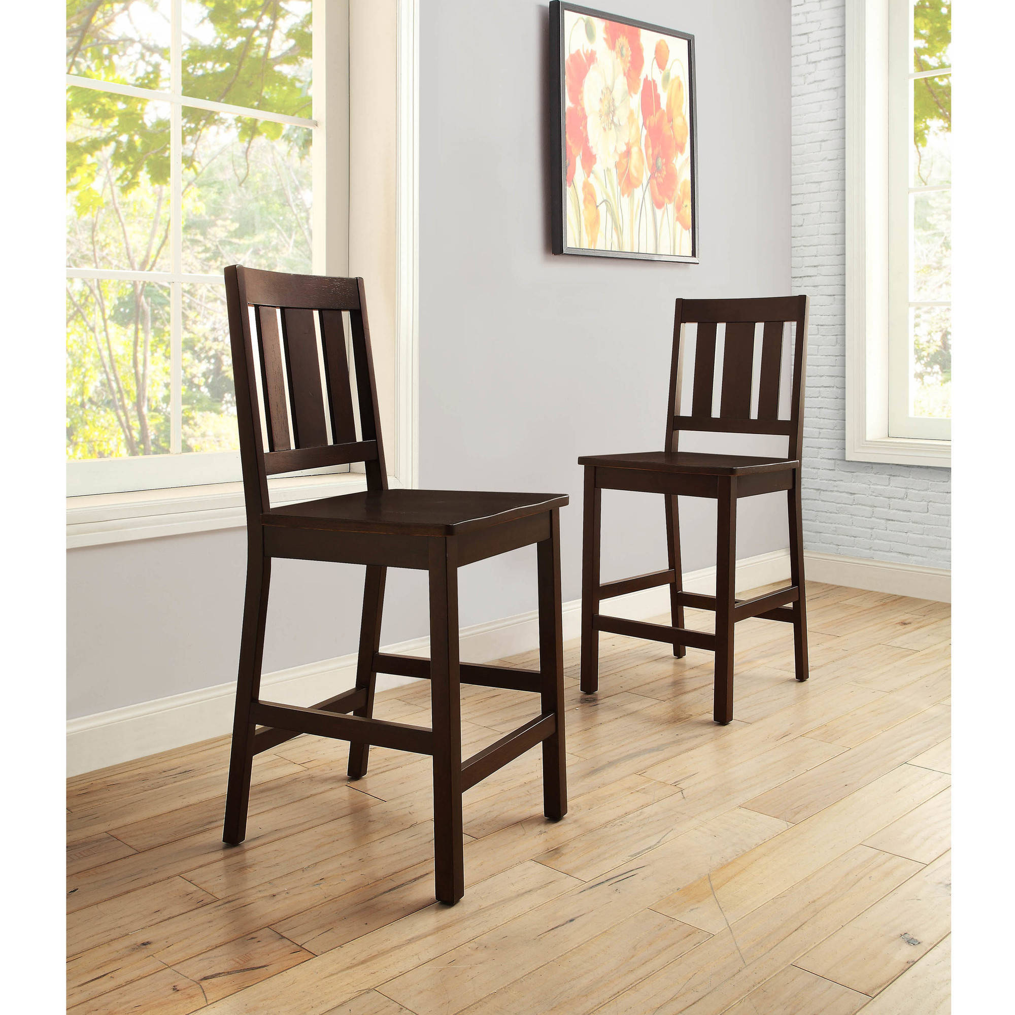 better homes and gardens bankston counter height stool set of 2 mocha