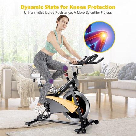 Goplus Magnetic Exercise Bike Stationary Belt Drive Cycling Bike - image 5 of 10