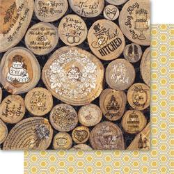Bulk Buy: Ruby Rock It (10-Pack) Bella! Get Hitched Double Sided Cardstock 12'X12' Rustic GH68