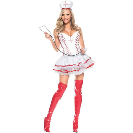 Home Care Nurse Women's Adult Halloween Costume - Nurse Halloween Makeup
