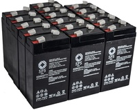 SPS Brand 6 V 3.2 Ah TT1 Replacement Battery with Terminal T1 for Siemens 341 (16 PACK) by SPS