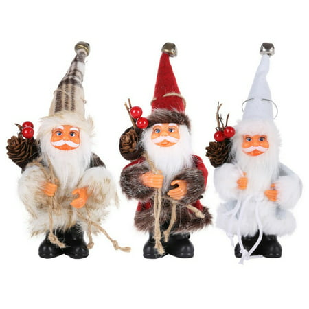 ENJOY Christmas Santa Claus Doll Toy Christmas Tree Ornaments Decoration Exquisite For Home Xmas Happy New Year Gift