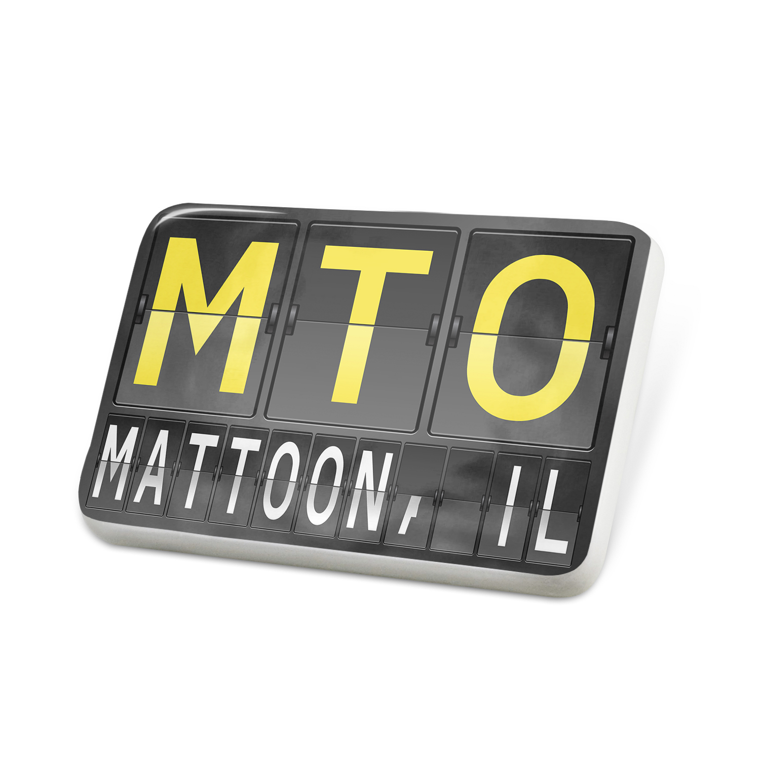 Porcelein Pin MTO Airport Code for Mattoon, IL Lapel Badge – NEONBLOND