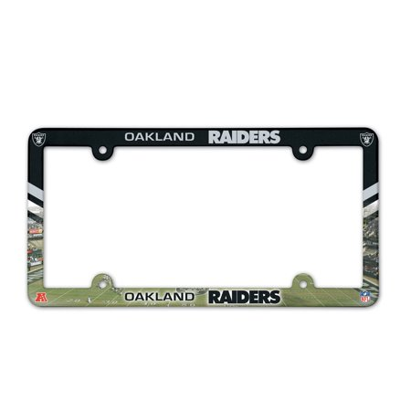 - Oakland Raiders Official NFL 12 inch x 6 inch Plastic License Plate Frame by Wincraft