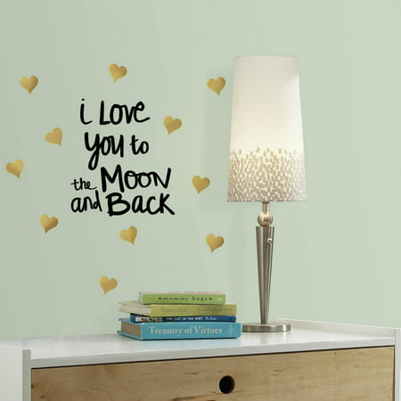 Roommates Love You To The Moon Quote Peel and Stick Wall (Love Peel)