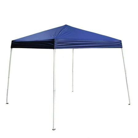 (Aleko Iron Foldable Gazebo Canopy for Outdoor Events - 8x 8 Ft - Blue Color)