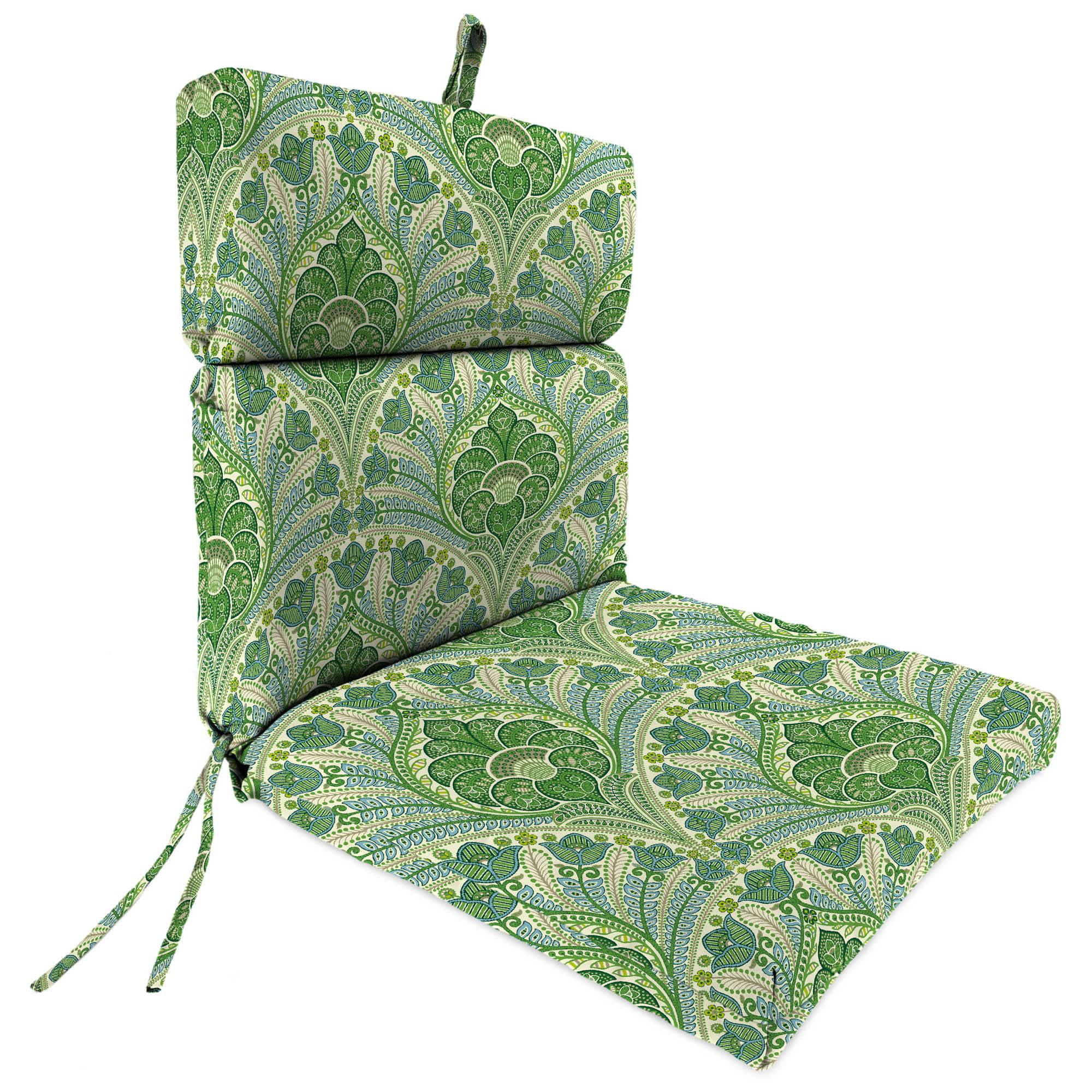 Jordan Manufacturing Outdoor Patio Chair Cushion, Crescent Beach Jungle