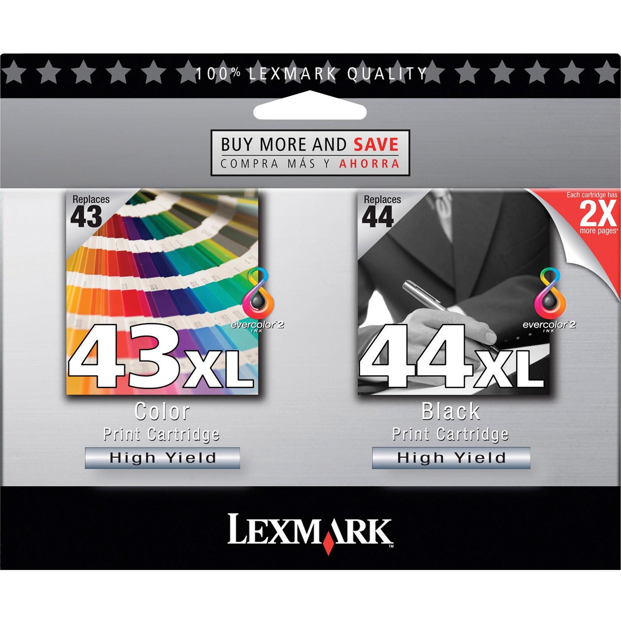 Lexmark, LEX18Y0372, 18Y0372 Twin-Pack Print Cartridges, 2 / Pack