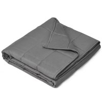 Topbuy Weighted Blankets 100% Cotton Glass Beads Filler Size Dark Gray