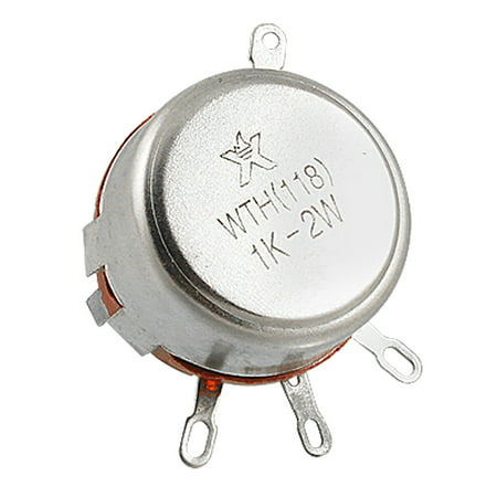 WTH(118) 1K ohm 2W Carbon Composition Rotary Taper Potentiometer - image 1 of 1