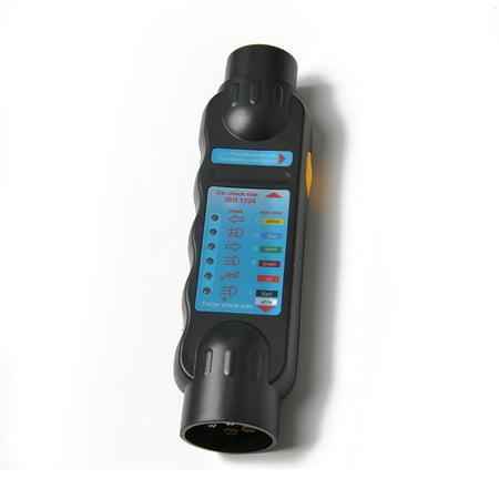 Diagnostic Tool 7 Pin Vehicle Car Trailer Wiring Tester Circuit Plug Socket Tester - image 1 de 7