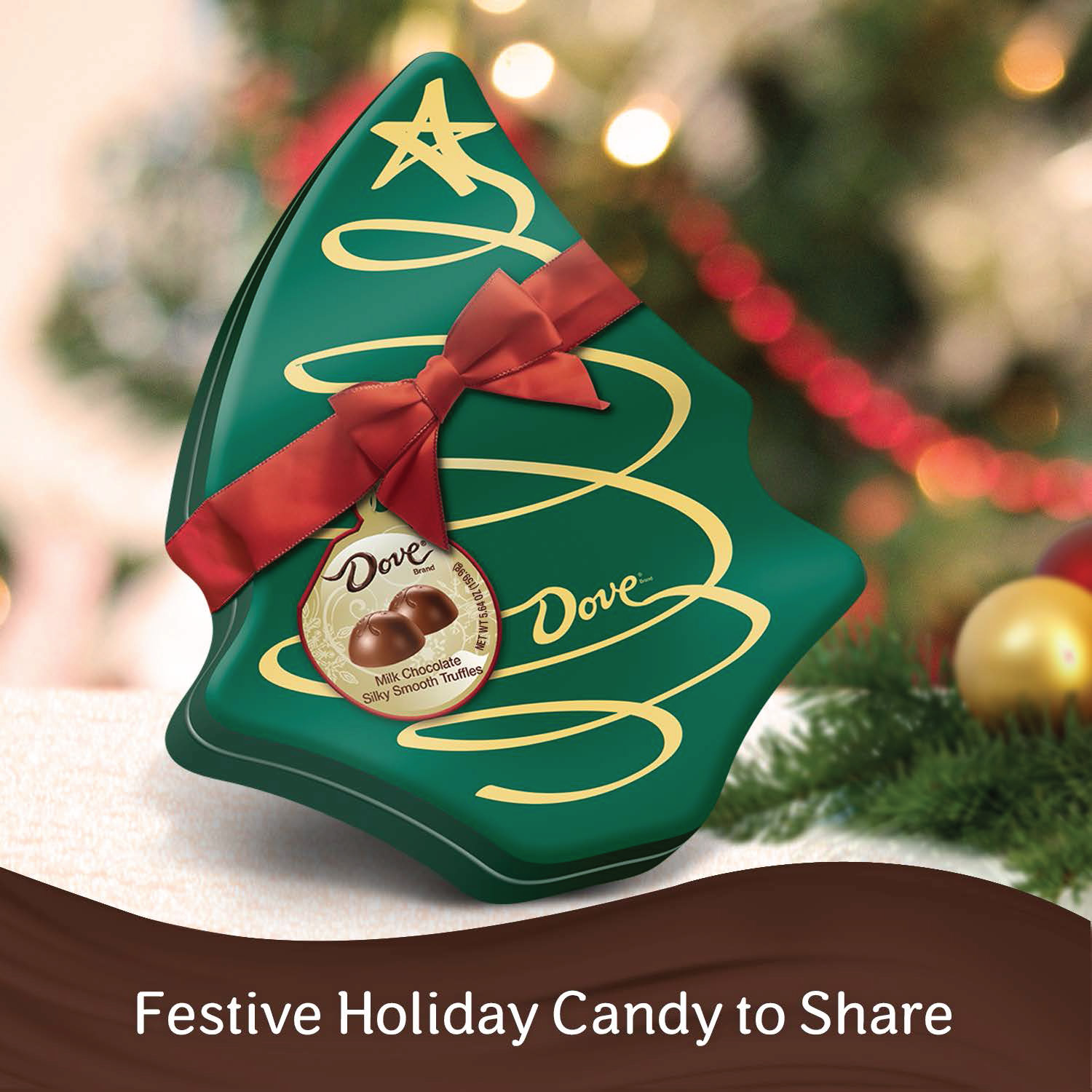 Dove Holiday Milk Chocolate Truffles Christmas Tree 5 64 Oz