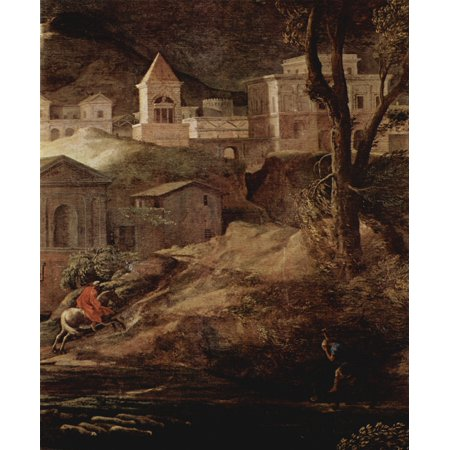 Framed Art for Your Wall Poussin, Nicolas - Landscape with Pyramus and Thisbe, detail [2] 10 x 13