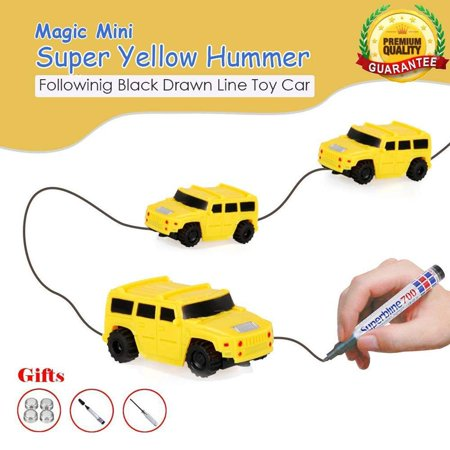 Caroj Children Mini Creative Drawn Line Follow Electric Inductive Toy Car 1pcs - image 5 of 7