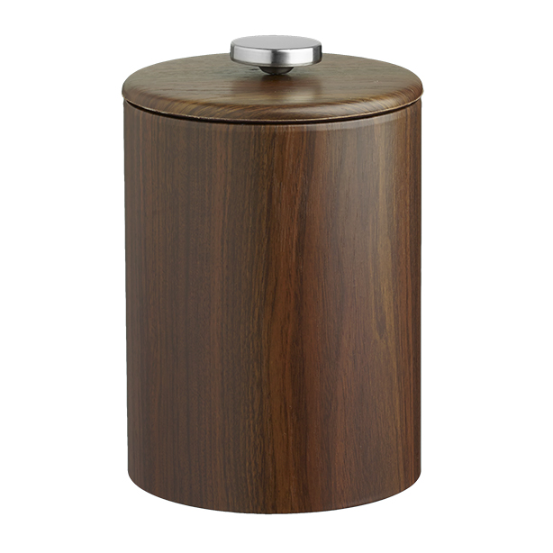 Woodcraft Walnut 2Qt. Tall Ice Bucket With Thin Vinyl Lid, No Handle - image 1 of 1
