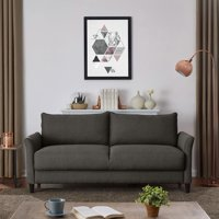 Deals on Homesvale DeVeen Flared Arm Storage Sofa In Textured Linen